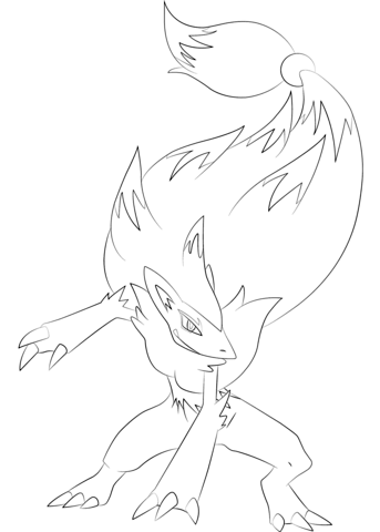 Zoroark Pokemon Coloring Page Free Printable Coloring Pages