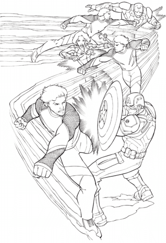 Avengers Quicksilver Coloring Page Free Printable