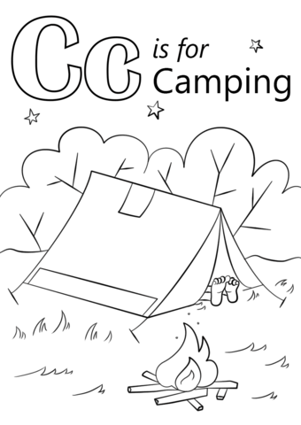 Letter C Is For Camping Coloring Page Free Printable Coloring Pages