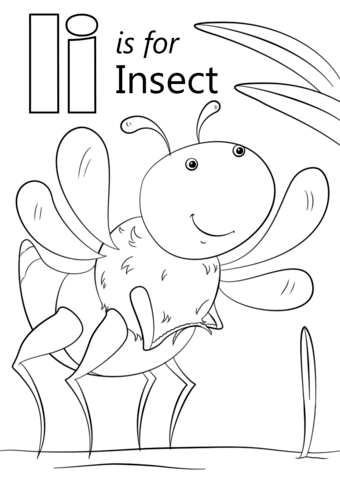 Letter I Is For Insect Coloring Page Free Printable Coloring Pages