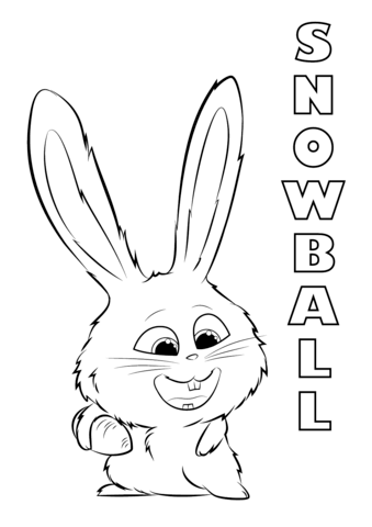 Snowball From The Secret Life Of Pets Coloring Page Free Printable Coloring Pages