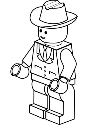 lego man in cowboy hat coloring page free printable coloring pages
