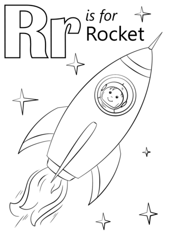 letter r is for rocket coloring page free printable coloring pages