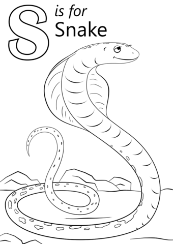 letter s is for snake coloring page free printable coloring pages