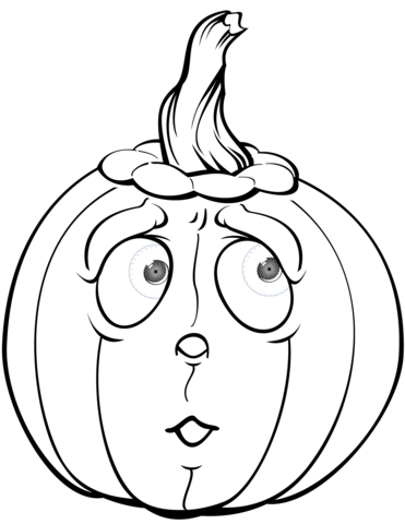 scared pumpkin coloring page free printable coloring pages