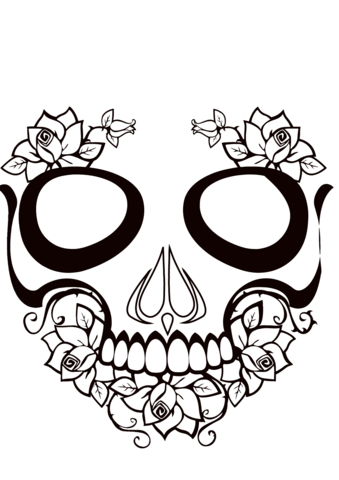 coloring book ~ Coloring Book Free Printable Sugar Skull Pages ... | 480x339