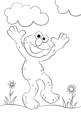 Happy Elmo Coloring Page Free Printable Coloring Pages