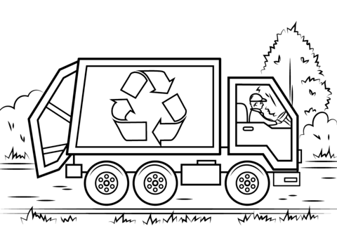 recycling coloring pages free coloring pages