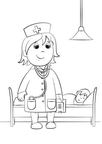 Dibujo De Doctora Para Colorear Dibujos Para Colorear