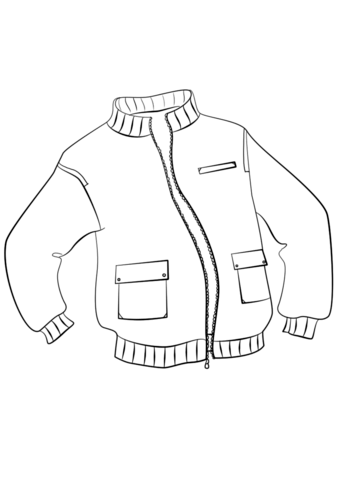 Jacket Coloring Page Free Printable Coloring Pages