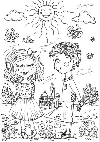 Peter Boy In May Coloring Page Free Printable Coloring Pages