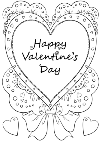 Happy Valentine S Day Coloring Page Free Printable Coloring Pages
