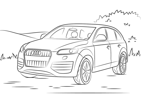Audi Q7 Coloring Page Free Printable Coloring Pages