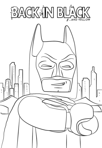 Lego Batman Coloring Pages Free Printable Pictures