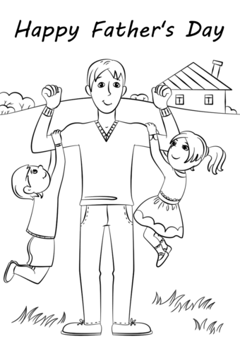 Happy Father S Day Coloring Page Free Printable Coloring Pages
