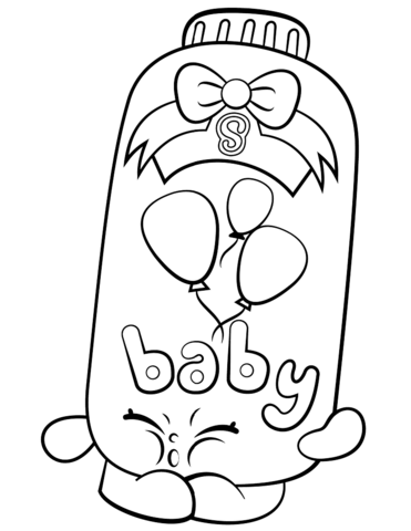 Powder Baby Puff Shopkin Coloring Page Free Printable