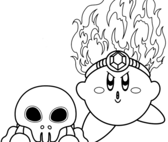 Fire Kirby Coloring Page Free Printable Coloring Pages