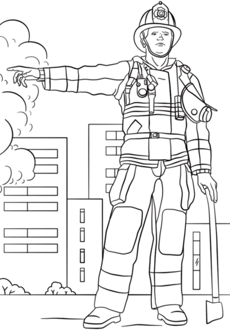 Firefighter Coloring Page Free Printable Coloring Pages