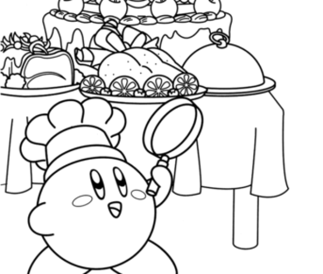 Kirby Chef Master Coloring Page Free Printable Coloring Pages