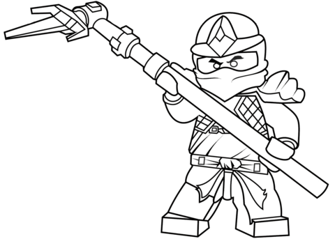 Click to see printable version of Lego Ninjago Cole ZX Coloring page