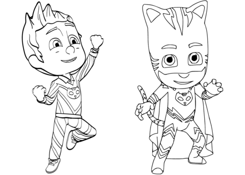 Pajama Hero Connor Is Catboy From Pj Masks Coloring Page Free Printable Coloring Pages