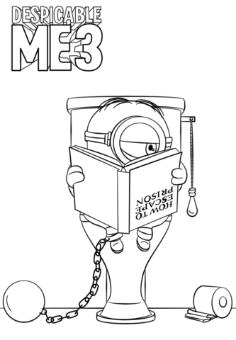 Minions Coloring Pages Free Coloring Pages