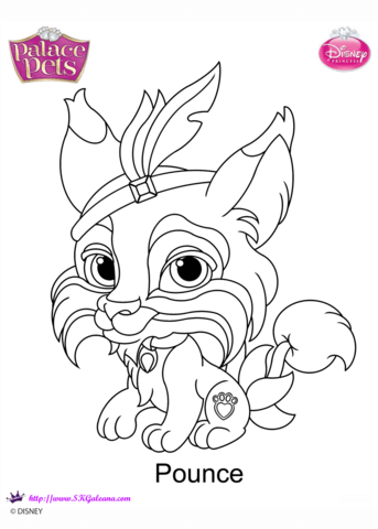 Palace Pets Pounce Coloring Page Free Printable Coloring