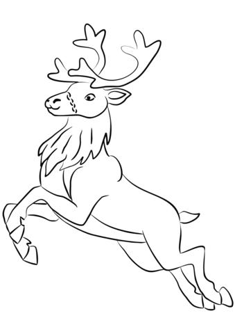 Santa Claus S Reindeer Coloring Page Free Printable Coloring Pages