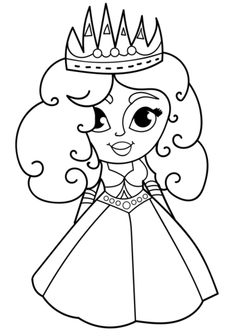 Cartoon Princess Coloring Page Free Printable Coloring Pages