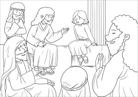 The Boy Jesus At Temple Luke 2 40 52 Coloring Page Free