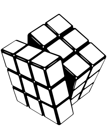 Rubiks Cube Coloring Page Free Printable Coloring Pages