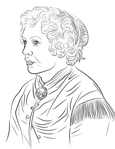 Elizabeth Cady Stanton Coloring Page Free Printable