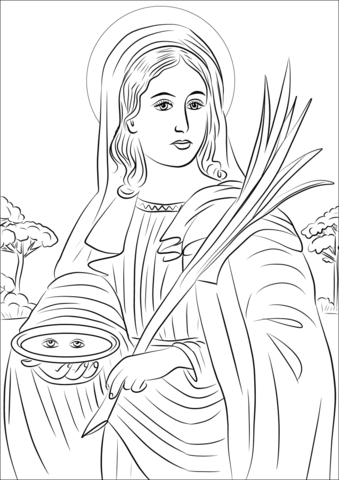 Saint Lucy Coloring Page Free Printable Coloring Pages