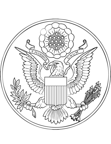 Great Seal Of The United States Coloring Page Free Printable Coloring Pages