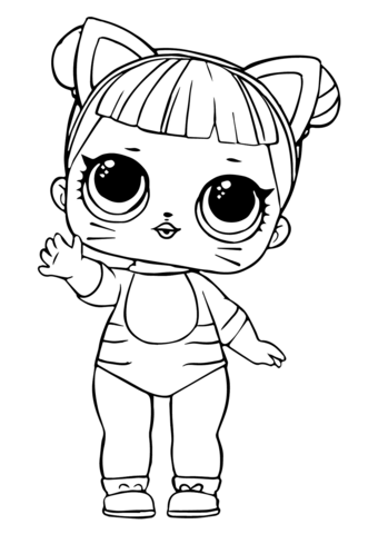 Lol Doll Baby Cat Coloring Page Free Printable Coloring Pages