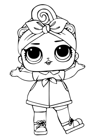 Can Do Baby Lol Surprise Doll Coloring Page Free Printable Coloring Pages