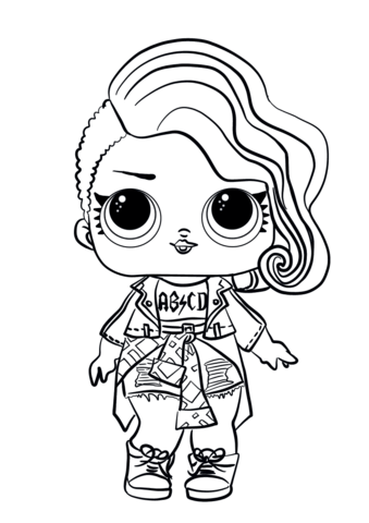 L O L Surprise Dolls Coloring Pages Free Coloring Pages