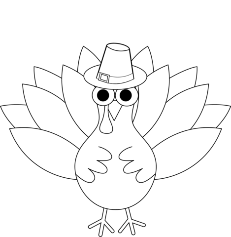 Thanksgiving Turkey Coloring Page Free Printable Coloring Pages