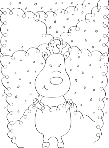 Christmas Lights Coloring Pages Free Coloring Pages