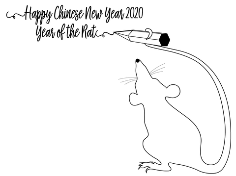 Happy Chinese New Year 2020 Coloring Page Free Printable Coloring Pages