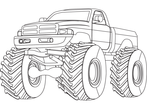 Monster Truck Coloring Pages Free Coloring Pages