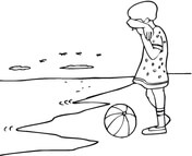 beach scene coloring page free printable coloring pages
