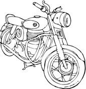 Harley Davidson Motorcycle Coloring Page Free Printable Coloring Pages
