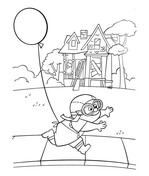 house on balloons coloring page free printable coloring pages