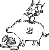 piggy bank coloring page free printable coloring pages
