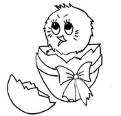 baby chick coloring page free printable coloring pages