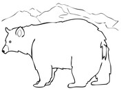 black bear sitting coloring page free printable coloring pages