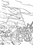 tower of babel coloring pages # 72