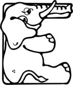letter e coloring pages free coloring pages