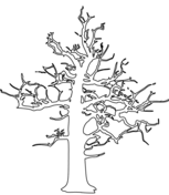 winter bare tree coloring page free printable coloring pages